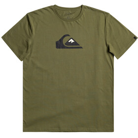 Quiksilver Comp Logo Maglietta a Maniche Corte Uomo, verde oliva